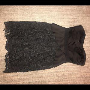 Bcbg strapless black size 4